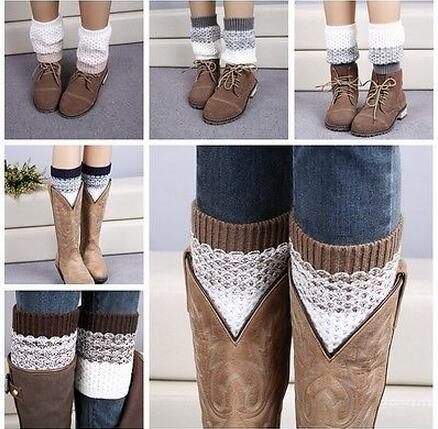 Soft Fashion Women Warm Crochet Knitted Trim Boot Cuffs Toppers Leg Warmers