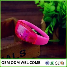 Sound activate motion sensor led light up bracelet