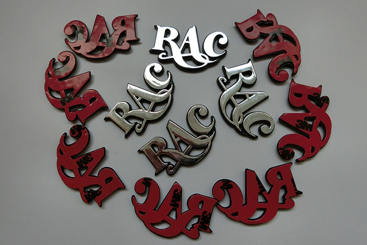 hot stamping letter for furniture request and chrome letters for cars