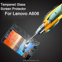 High Quality New 0.3mm Arc Tempered Glass Screen Protector Protective Film For Lenovo A 606 High transparent