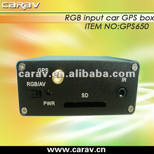 Universal car navigating GPS box with english remote controller