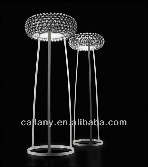modern crystal decorative floor standing lamp