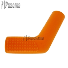 "Pazoma Orange Motorcycle Part Rubber Shift Sock Boot Shoe Protector Shifter Cover Sportbike 3/4"" wide 2"" long Rubber Shift Socks"
