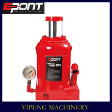 50T car repair tools hydraulic bottle jack with gauge
