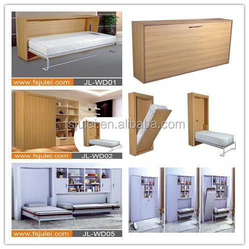 modern wooden steel wall bed murphy bed JL-WD01B