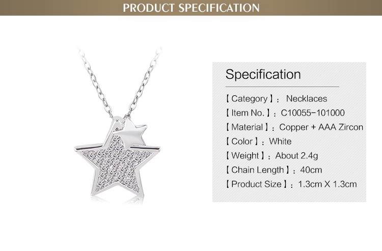China manufacturer wholesale chunky double star women accessory statement necklace
