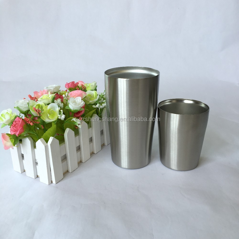 Double wall Vacuum Insulated Metal Beer Cup Stainless Steel Cup
