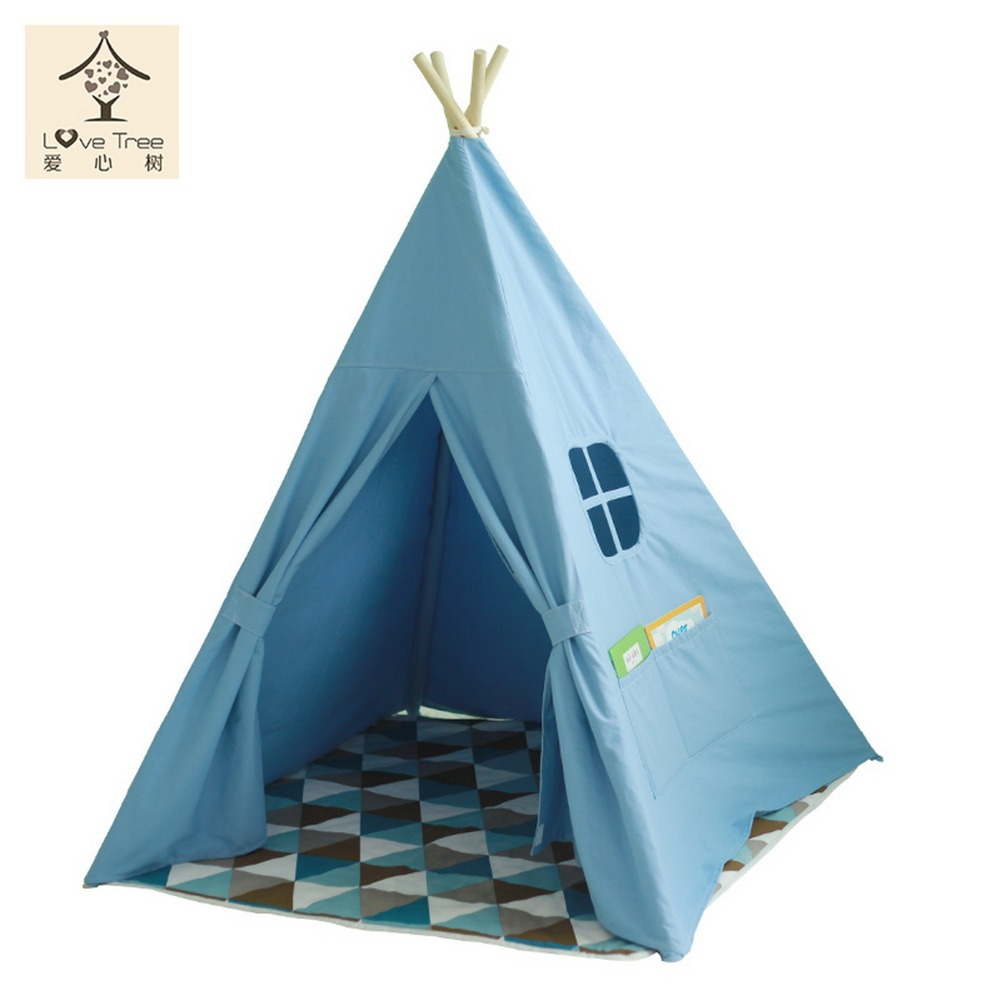 ... Teepee Kids DIY Play Children Play House Toy Tent Indian teepee Castle Tipi Pure Blue style  sc 1 st  Alibaba : tents tipi - memphite.com