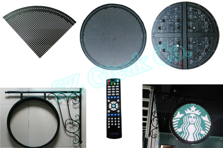 wifi controled circular led display outdoor advertising