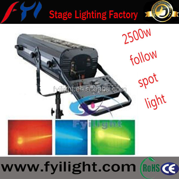 Fashion design 2500w spot follow light/follow spot light promotion