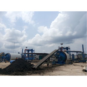 Plastics and waste rubber recycling machine to fuel oil