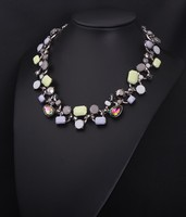2014 Fashion Colored Crystal Necklace Jewelry