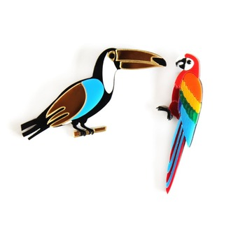 animal Toucan coats pin garment brooch accessories