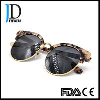 Italy fashion high quality half rim hawksbill acetate sunglasses