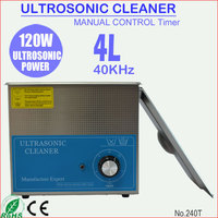 120W 4L Stainless Steel Manual Ultrasonic Lens Cleaner for Contact Lens 240T