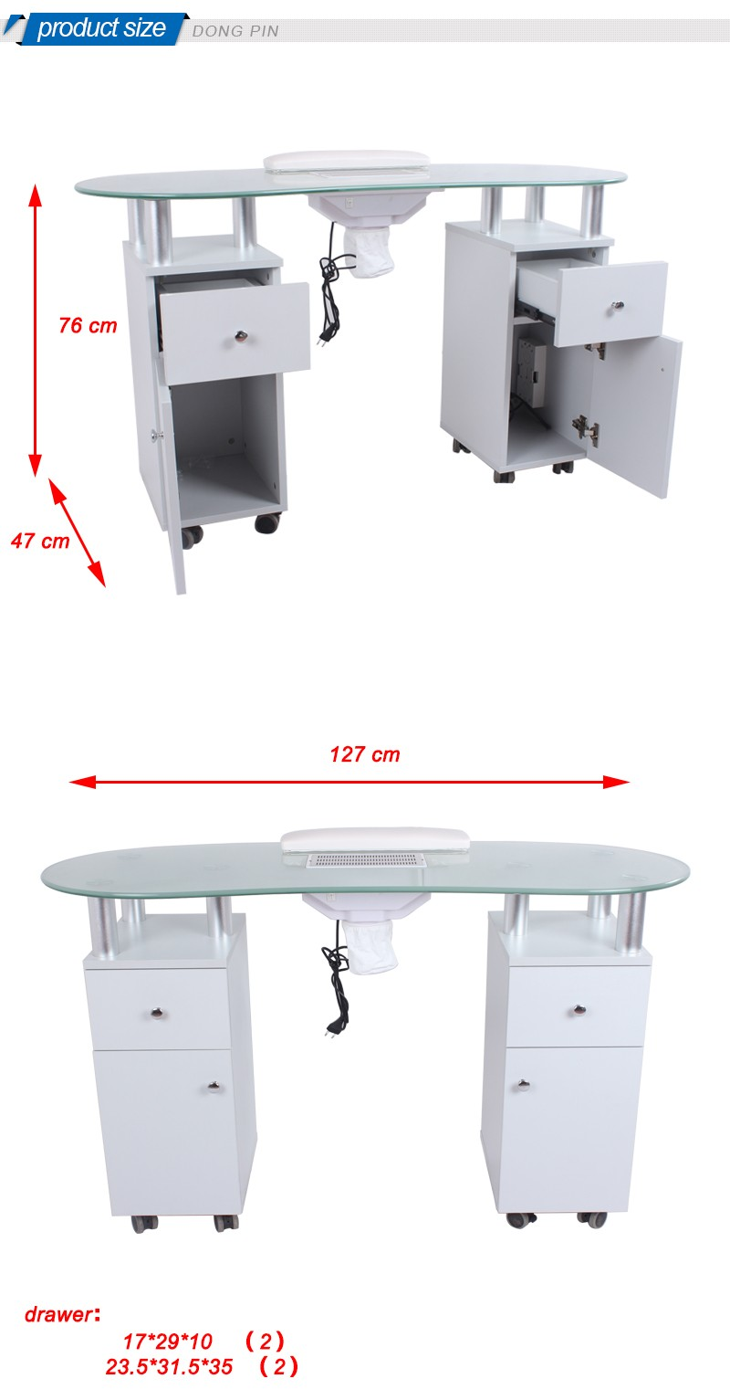 Nail design manicure tables with vent fan buy manicure for Nail table with vent