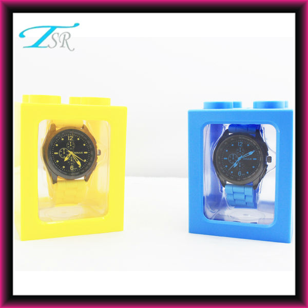 Watch packaging box for ladies with silicone band and Chinese SL68 quartz movement