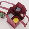 Stable 4 Bottle Non-woven Wine Tote Bag