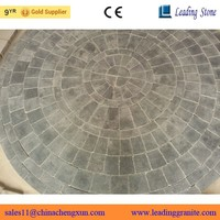 Old fashion blue limestone round paving stone