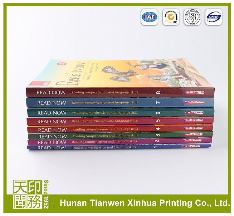 Cheap high quality color textbook solution manual for children