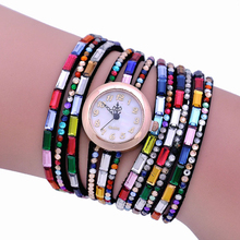 Colorful Rhinestone Women Dress Watch Quartz Relogios Korean Style