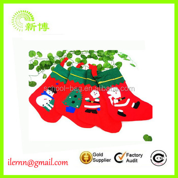 2017 new type colorful and exquisite Printed christmas sock