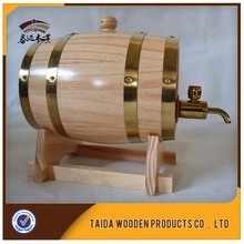 handmade high quality decorative mini wooden barrels