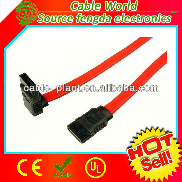 1m 2m 2.0 version 7pin angle flat dual sata flexible data cable