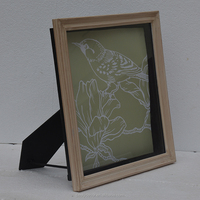 simple square standing solid timber wood picture photo frame