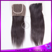 Wholesale Direct From Factory 6A Grade Middle Part Straight Brazilian Remy Hair Lace Top Closure Hair Piece