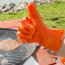anti abrasion water proof heat resistant silicone cooking glove