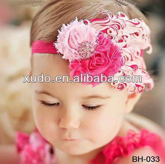 HOT!!! fashion wholesale feather headband baby girls <strong>hair</strong> <strong>accessories</strong>