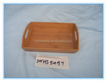 Wood Serving Tray With Handles, Best For Serving Tea, Food, Vegetables and Coffee