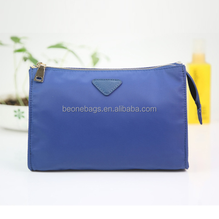 Fashion wholesale simple style make up nylon cosmetic bag