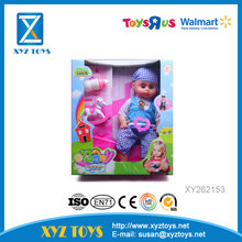 2017 new product 16 inch plastic hollow baby boy doll for kids