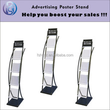 Metal book Magazine Literature Display Stand Rack Display Shelf HS-ZL09