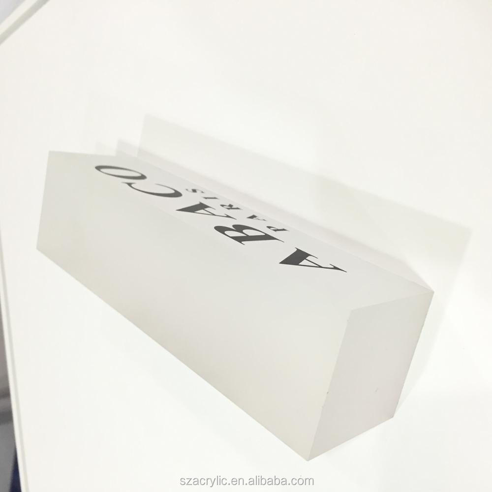 plexi signs cube logo displays manufacture custo solid acrylic logo blocks