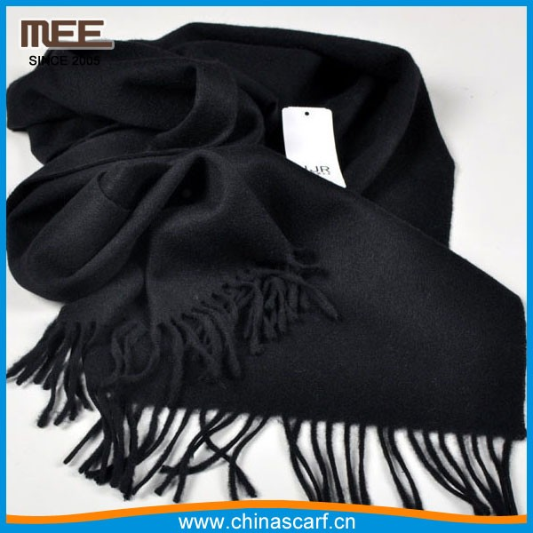10 years scarf manufacturer real authentic black wool scarf