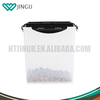 Plastic cat dog pet food storage bucket food container with flip lid