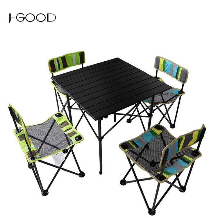 Cheap Outdoor Collapsible Metal Camping Table And Chair