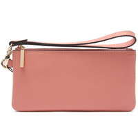 Popular pink candy color clutch bag for girls shopping leather purses
