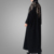 Contrast Floral Embroidered Kaftan Abaya In Dubai Casual Abaya Long Sleeves Maxi Dress Muslim Clothes