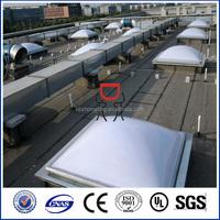 CE ROHS SGS GE lexan plastic 100% virgin polycarbonate dome skylight