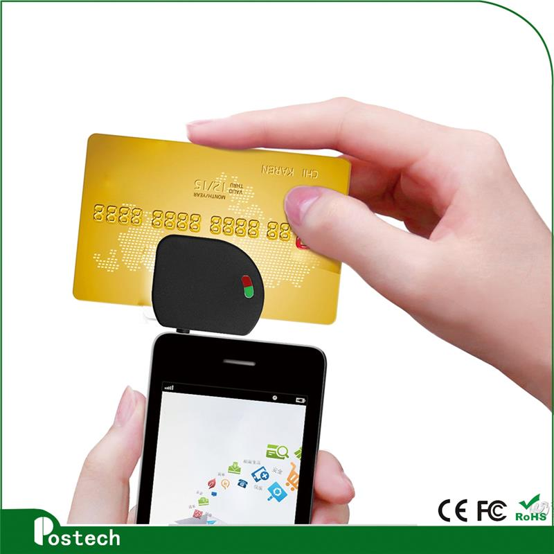 MCR02 New design mobile phone magnetic chip 2 in 1 card reader with great price