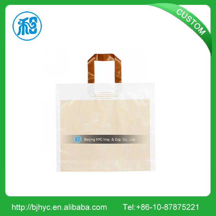 High quality recycled tote biodegradable plastic carry bag with your own logo