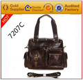 manufacturer european style famous branded genuine leather men handbags made in China