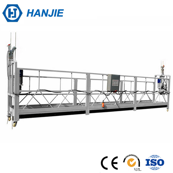 HANJIE ZLP800 Aluminum windows cleaning working platform,Electrical lifting scaffolding platform