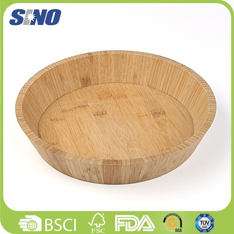 Eco-friendly Healthy Cheap Salad Bamboo Dog Bowl