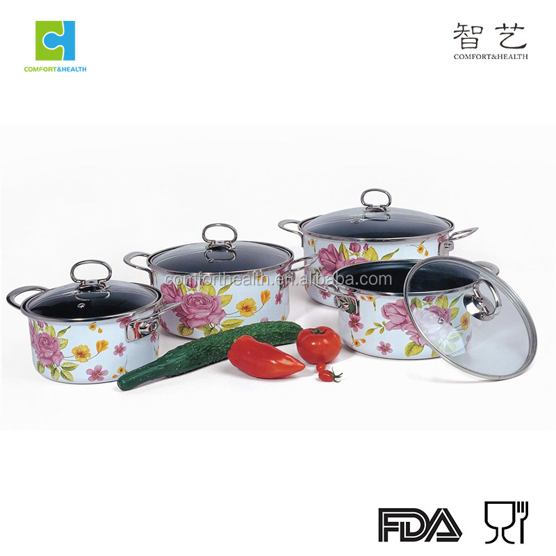 Non-stick enamel casserole kitchenware