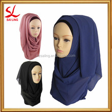 New Women's Chiffon Muslim Long Scarf Hijab Islamic Shawls Arab Headwear Wrap